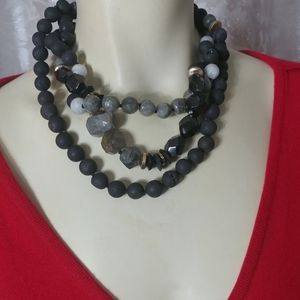 AKOLA Natural Stones Multistrand Necklace